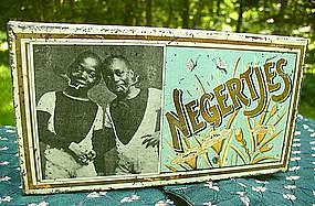 Wonderful 1910 Dutch Cigar NEGERTJES Black Boys Tin
