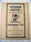 1934 Vintage Paper Advertisement Black Minstrel Show
