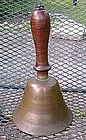 FAB 19thC Bronze Brass Teacher's 10 Inch School Bell