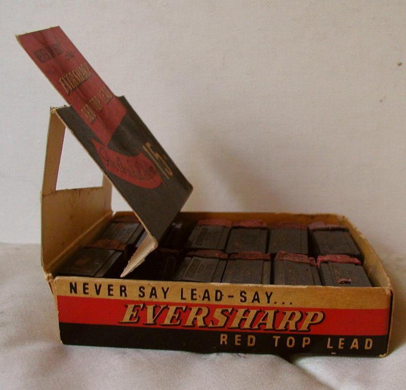 1930 EVERSHARPE RedTop School Pencil-Lead Display