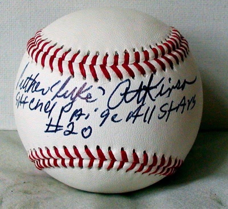 Signed Ball Negro League Baseball Player LUKE ATKINSON