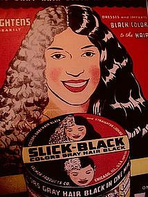 1930s Vintage Advertisement SLICK BLACK Hair Color
