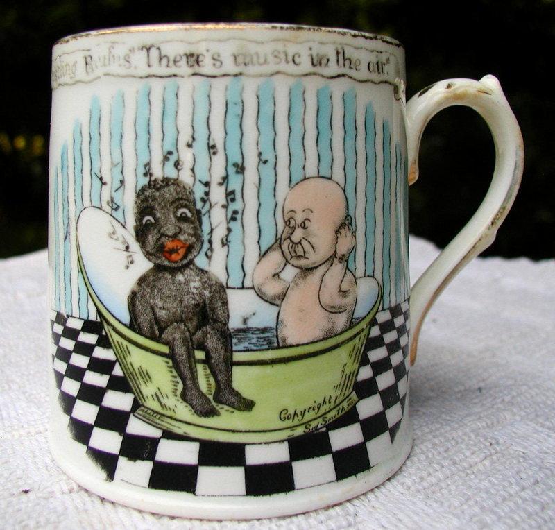 Humorous Black Memorabilia 1920 English Child Baby Mug