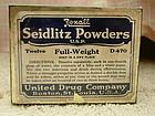 Vintage 1930s Rexall Seidlitz Powder Tin Boston