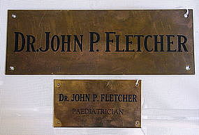 2 Vintage Dr John P. Fletcher Pediatrician Office Signs