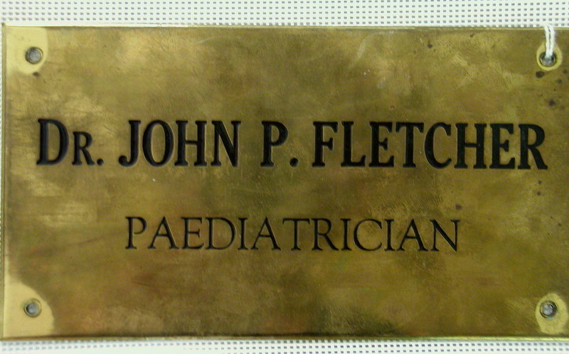 2 Vintage Dr John P. Fletcher Pediatrician Office Signs