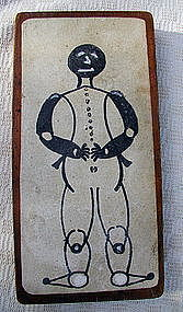 RARE 1920-30s Wood Game Piece Box Black Man Sambo Cover