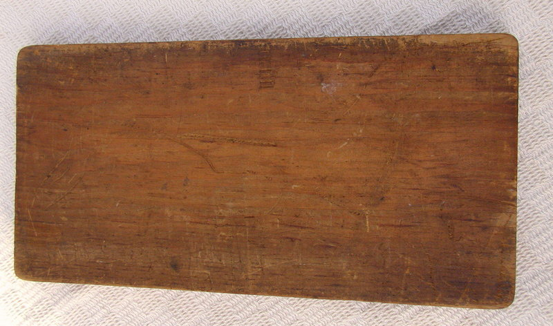 RARE 1920-30s Wood Game Piece Box Black Man Sambo Cover
