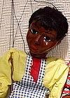 1938 Hazelle Black Americana Pappy Marionette Puppet