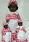 3 C1930s Composition Black Aunt Jemima Display Dolls