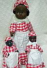 3 C1930s Composition Black Aunt Jemima Display Dolls