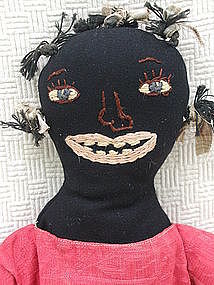 VintageLook Original Artisan Black Mammy Cloth Doll Maine Folk Artist