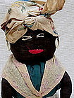 Fab 1930s Hand-Stitched Black Mammy Milk Bottle Doll RW Tripp Dairy