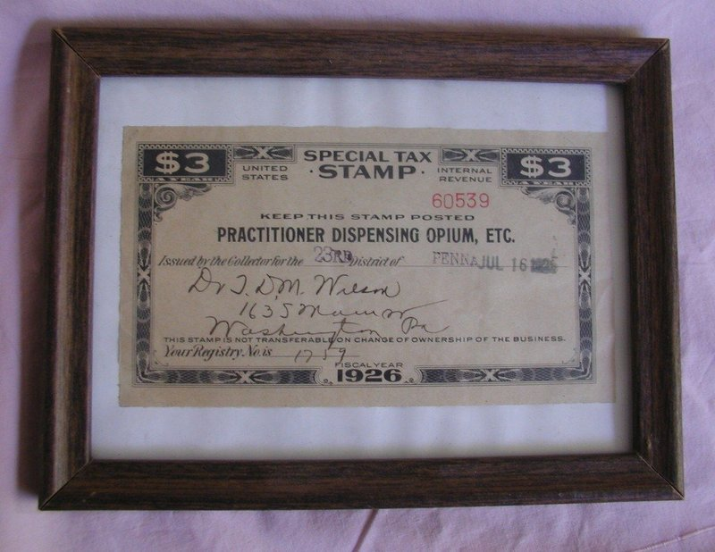 RARE 1875-1926 Dr Wilson Brass Sign, Opium + AMA Forms