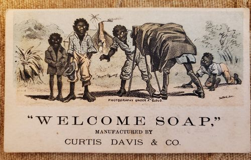 Three ExRARE 1890s Black Memorabilia Trade Cards