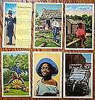 Group10 Black Memorabilia Postcards 1930-1950s Vintage