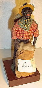 1920s New Orleans Vargas Wax Black Doll Cotton Seller