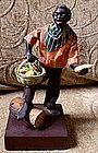1920 New Orleans Vargas Wax Black Doll Vegetable Seller