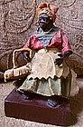 1920 New Orleans Vargas Wax Black Doll Praline Seller