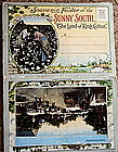 C1900 Souvenir Photo Postcard Folder SUNNY SOUTH Cotton
