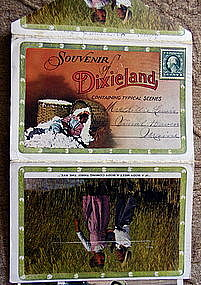 1897 Souvenir Real Photo Postcard Folder DIXIELAND