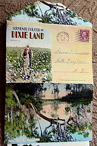 1930 Souvenir Real Photo Postcard Folder DIXIELAND