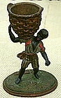Fab1920 Black Slave Match Holder Cotton Tobacco Picker