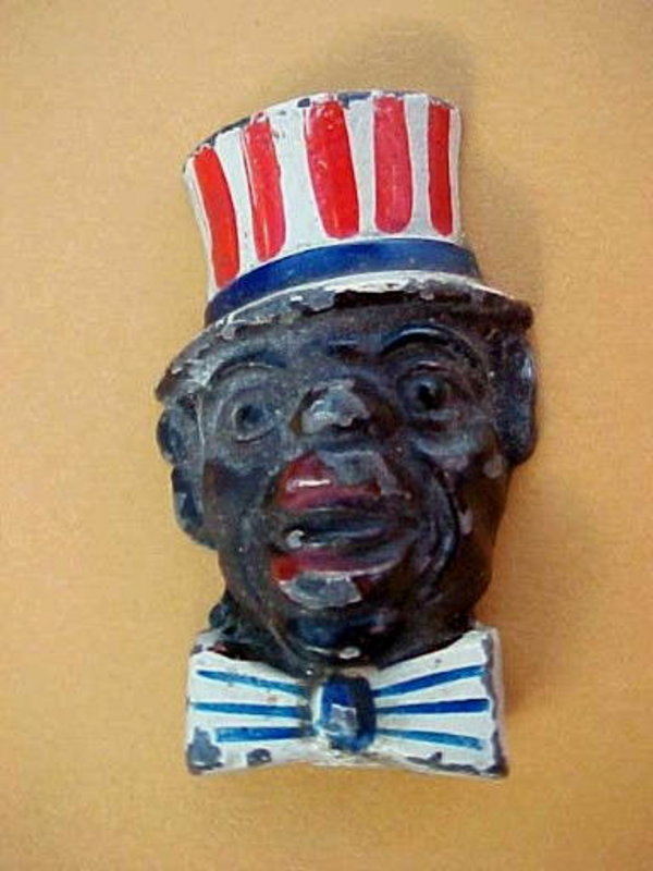 1948 Occupied Japan Black Uncle Sam Pencil Sharpener