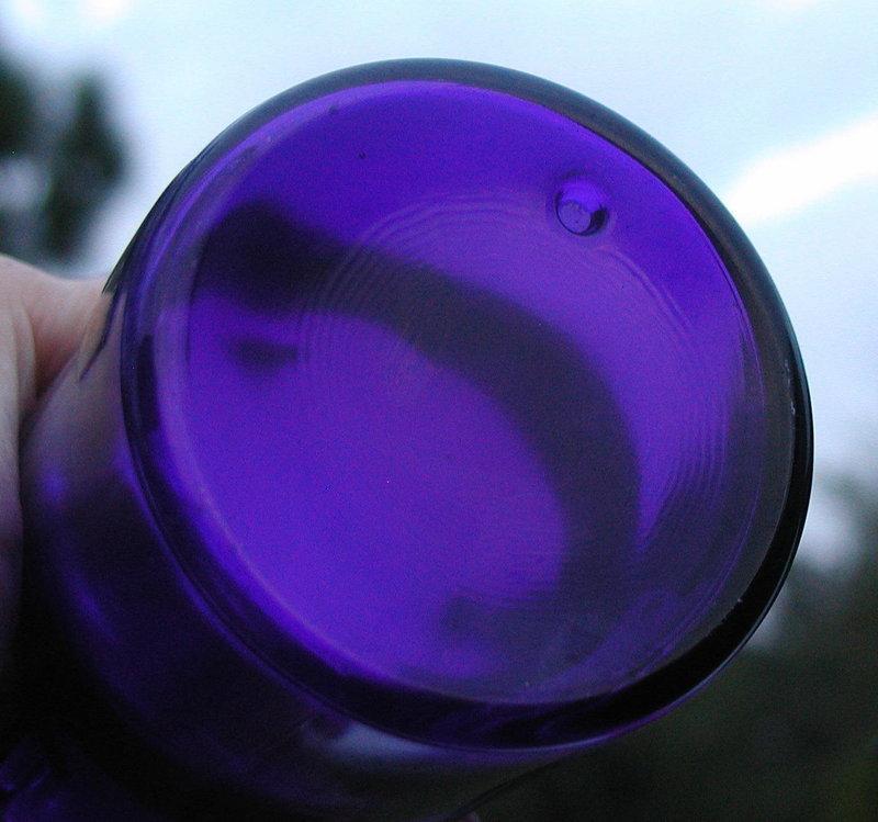 19thC Amethyst ARSENIC Cobalt OPIUM Apothecary Bottles