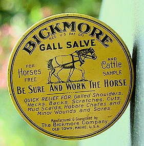Old Veterinary BICKMORE Horse Gall Salve Sample Tin