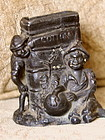 1884 New Orleans Expo Black Memorabilia Match Holder