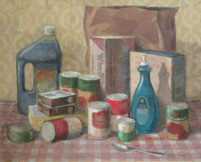 """Still Life with Groceries"" by James Francis O�Brien"