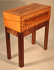 Antique Inlaid Box on Stand