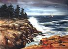 Crashing Surf by Donald Allen Mosher (Am., b. 1945)