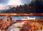 A Quiet Cove by Donald Allen Mosher (Am., b. 1945)