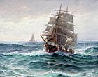 Fishing Schooner by Theodore Victor Carl Valenkamph