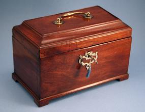Rare George III Tea Caddy with Secret Drawer