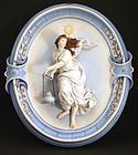 Exceptional Antique Porcelain Wall Plaque