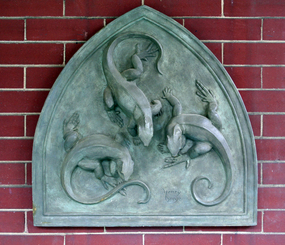 Plaster Relief Plaque by Edward Henry Berge