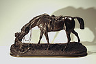 Horse and Dog by Pierre Jules Mene (French 1810-1879)