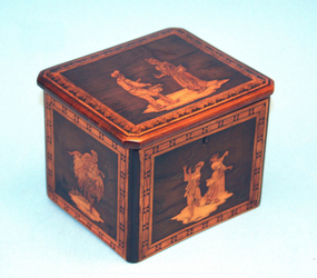 Antique Marquetry Tea Caddy