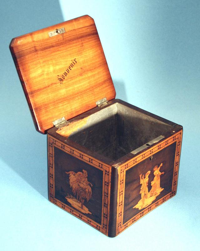 Antique Marquetry Tea Caddy
