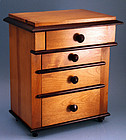 Antique Biedermeier Miniature Chest of Drawers