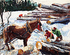 Logging in New England by Bob Nally