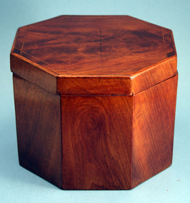 American Federal Octagonal Tea Caddy