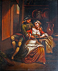 A Courting Couple (19th C. European School)