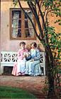 Women in a Garden by Marie Henriques (Danish, b. 1866)