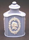 Antique Wedgwood Blue Jasperware Tea Caddy