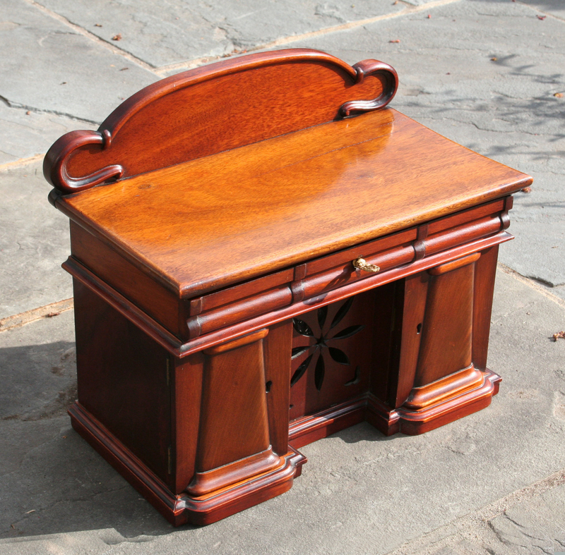 Rare English Tea Chest in the Form of a Sideboard