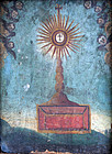Provincial Italian Depiction of a Host in  a Monstrance